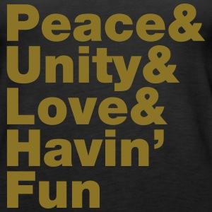 Peace & Unity & Love & Havin' Fun Tanks - Women's Premium Tank Top