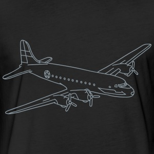 Airplane (silver) - Fitted Cotton/Poly T-Shirt by Next Level