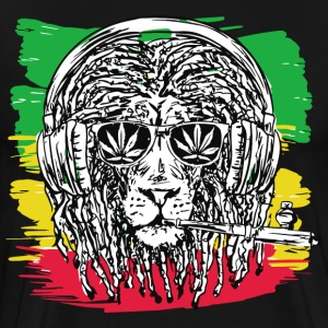 Marijuana Weed Lion - Men's Premium T-Shirt