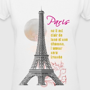 Paris Eiffel Tower Women's Tee - Women's V-Neck T-Shirt
