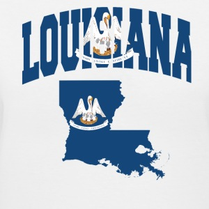 louisiana Flag in louisiana Map V-Neck Tee - Women's V-Neck T-Shirt