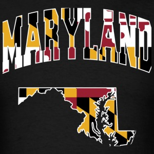 Maryland Flag in Maryland T-Shirt - Men's T-Shirt
