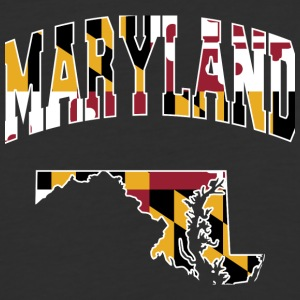 Maryland Flag in Maryland Baseball Tee - Baseball T-Shirt
