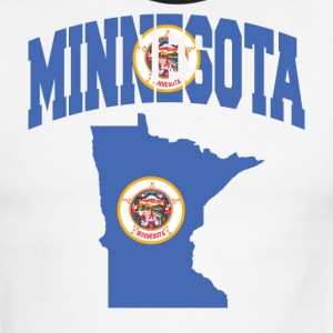 Minnesota Flag in Minnesota map Ringer Tee - Men's Ringer T-Shirt