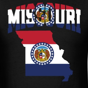 Missouri Flag in Missouri Map T-Shirt - Men's T-Shirt