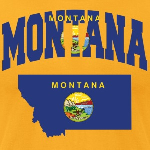 Montana Flag In Montana Map American Apparel Tee - Men's T-Shirt by American Apparel