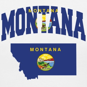 Montana Flag In Montana Map V-Neck Tee - Women's V-Neck T-Shirt