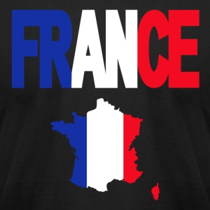 French Flag In French Map France American Apparel - Men's T-Shirt by American Apparel