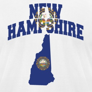 New Hampshire Flag American Apparel Tee - Men's T-Shirt by American Apparel