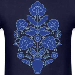 Blue Ukrainian tree of life. - Men's T-Shirt