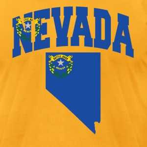 Nevada Flag in Nevada Map American Apparel Tee - Men's T-Shirt by American Apparel