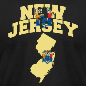 New Jersey Flag in Map American Apparel Tee - Men's T-Shirt by American Apparel