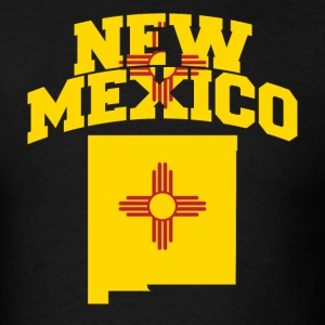 New Mexico Flag in New Mexico Map T-Shirt - Men's T-Shirt