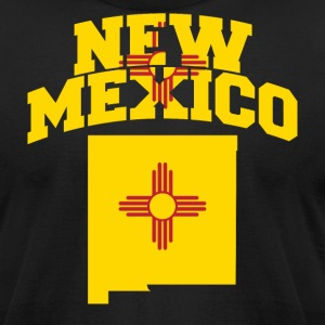 New Mexico Flag in New Mexico Map American Apparel - Men's T-Shirt by American Apparel