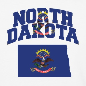 North Dakota Flag Map Baseball T-Shirt - Baseball T-Shirt