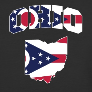 Ohio Flag in Ohio Map Baseball Tee - Baseball T-Shirt