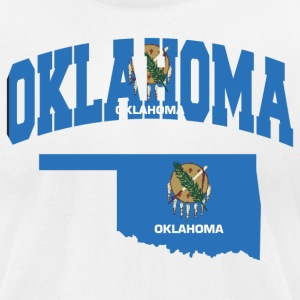 Oklahoma Flag in Oklahoma American Apparel Tee - Men's T-Shirt by American Apparel