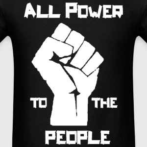 Power to the People wh T-Shirts - Men's T-Shirt