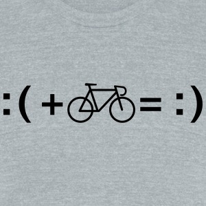 Formula For Happiness (Cycling) T-Shirts - Unisex Tri-Blend T-Shirt by American Apparel