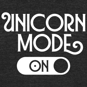 Unicorn Mode (On) T-Shirts - Unisex Tri-Blend T-Shirt by American Apparel