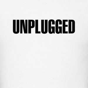 Unplugged Black - Men's T-Shirt