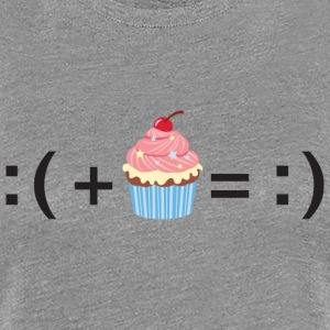 Formula For Happiness (Cupcake) T-Shirts - Women's Premium T-Shirt