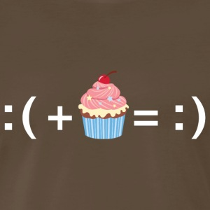 Formula For Happiness (Cupcake) T-Shirts - Men's Premium T-Shirt