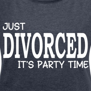 JUST DIVORCED T-Shirts - Women´s Rolled Sleeve Boxy T-Shirt