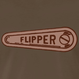 Mens Pinball Flipper T-Shirt - Brown - Men's Premium T-Shirt