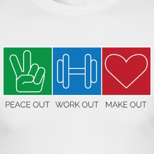 powomo peace, weights, heart Long Sleeve Shirts - Men's Long Sleeve T-Shirt by Next Level