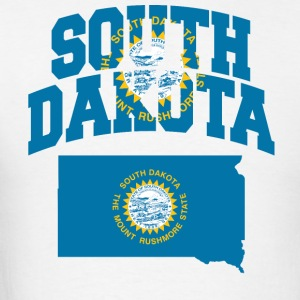 South Dakota Flag In South Dakota Map Tee - Men's T-Shirt