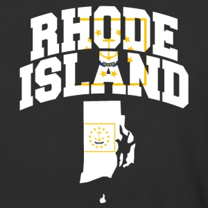 Rhode Island Flag In Rhode Island Map Baseball Tee - Baseball T-Shirt