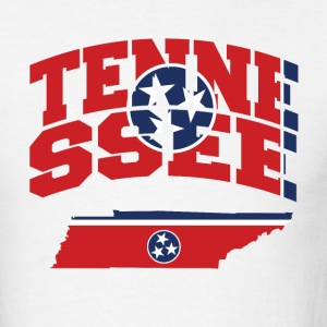 Tennessee Flag In Tennessee Map T-Shirt - Men's T-Shirt