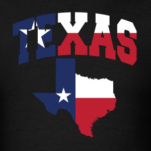 Texas Flag in Texas Map T-Shirt - Men's T-Shirt