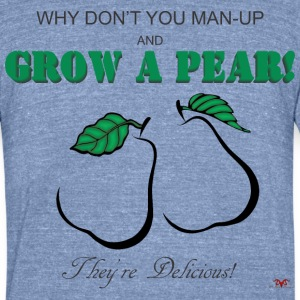 Grow a Pear-light prints - Unisex Tri-Blend T-Shirt by American Apparel