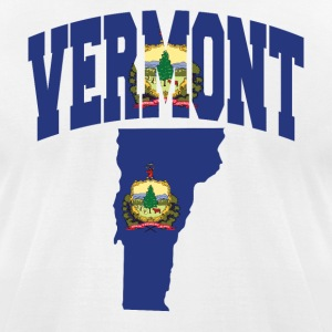 Vermont Flag in Vermont Map American Apparel tee - Men's T-Shirt by American Apparel