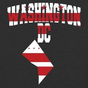 Washington DC flag Baseball Tee - Baseball T-Shirt