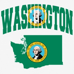 Washington flag Baseball Tee - Baseball T-Shirt