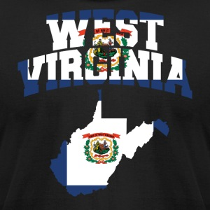 West Virginia Flag Map American Apparel Tee - Men's T-Shirt by American Apparel