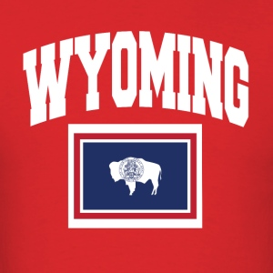 Wyoming Flag Map Tee - Men's T-Shirt