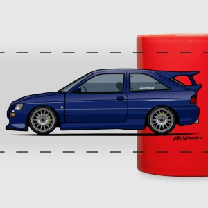 Escort Mark V RS Cosworth Pacifica Blue Mugs & Drinkware - Full Color Panoramic Mug
