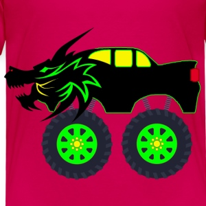 T-shirt Dragon Monster Truck - Toddler Premium T-Shirt