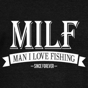 MILF / Man I Love Fishing / white Long Sleeve Shirts - Women's Wideneck Sweatshirt