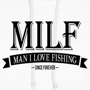 MILF / Man I Love Fishing / black Hoodies - Women's Hoodie