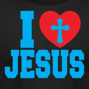 I Love Jesus American Apparel Tee - Men's T-Shirt by American Apparel