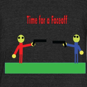 Time for a Faceoff - Unisex Tri-Blend T-Shirt
