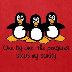 One by one the Penguins Humor - Tote Bag