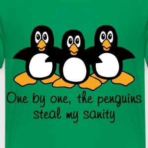 One by one the Penguins Humor - Toddler Premium T-Shirt