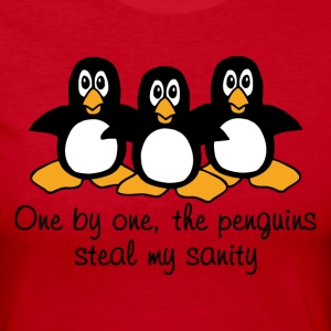 One by one the Penguins Humor - Women's Long Sleeve Jersey T-Shirt