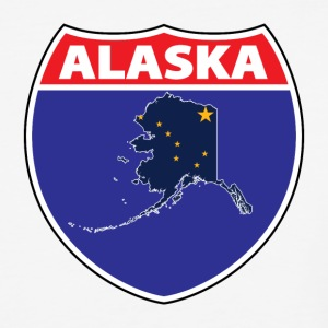 Alaska Flag Interstate Sign Tee - Baseball T-Shirt